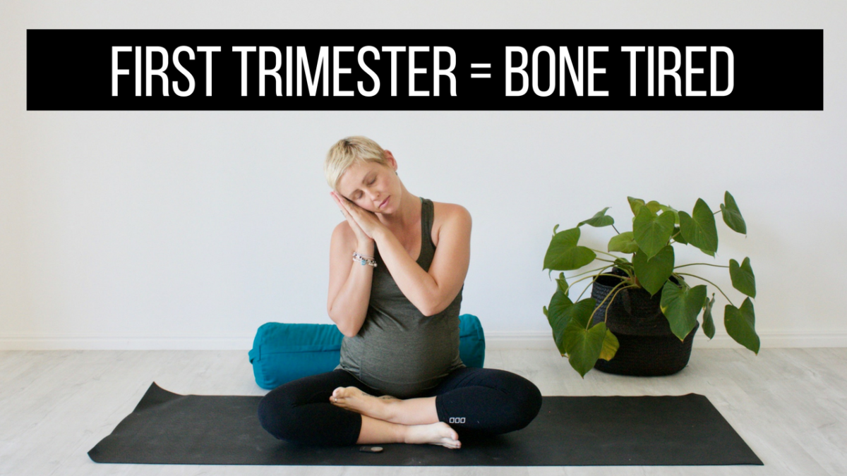 How to manage first trimester exhaustion (& free pregnancy ...