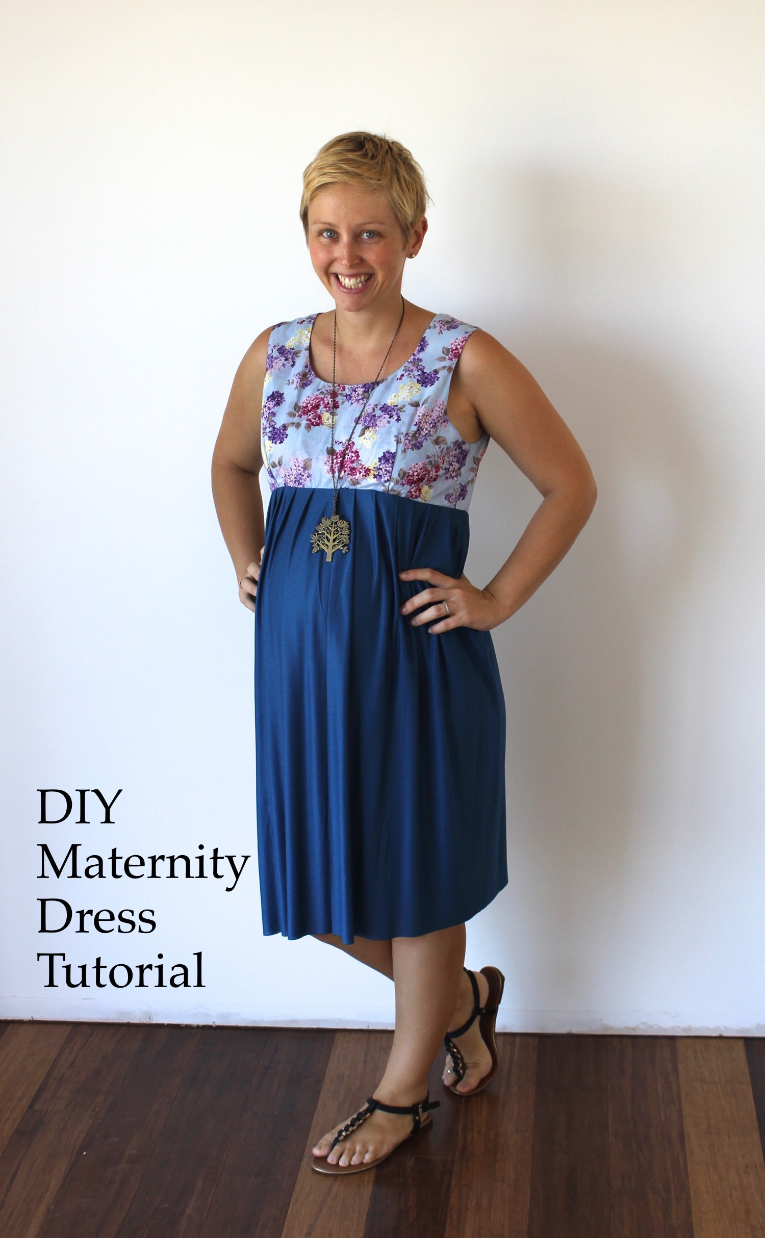 Maternity dress tutorial and free pattern